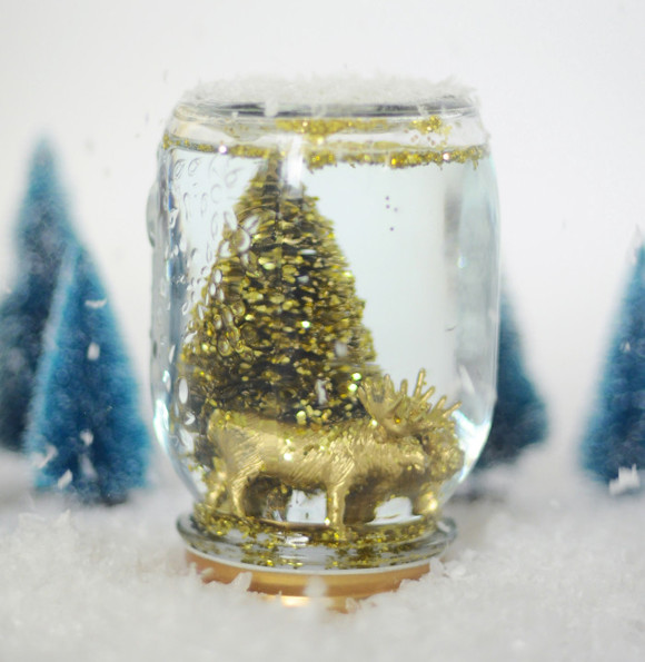 DIY Golden Snow Globe
