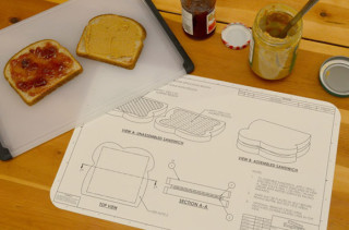 Engineering Blueprint Placemat Set