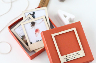 DIY Wooden Polaroid Set