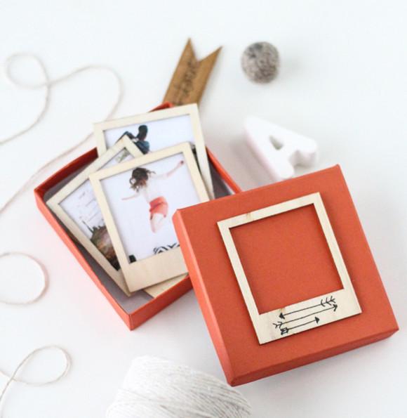 DIY Wooden Polaroid Set