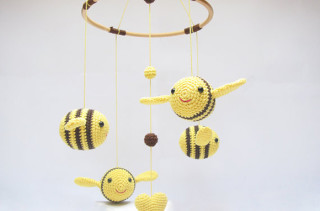 Bumble Bee Baby Mobile