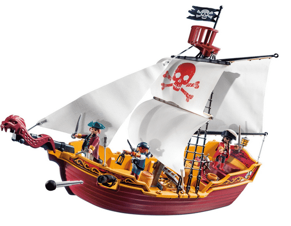 Pirate bath boat toy