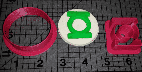 green lantern cookie cutter