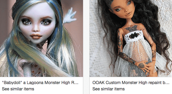 Buy custom monster high dolls-Ebay
