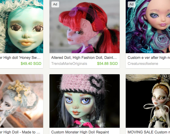 Places to buy custom monster high dolls online