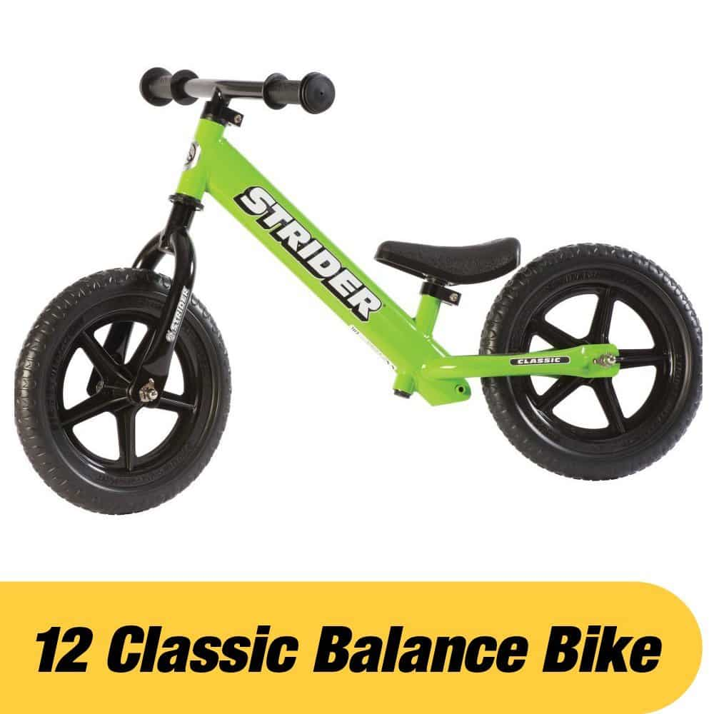 Strider 12 Classic No Pedal Bike - Best Toddler Balance Bike 18 Months to Three Years