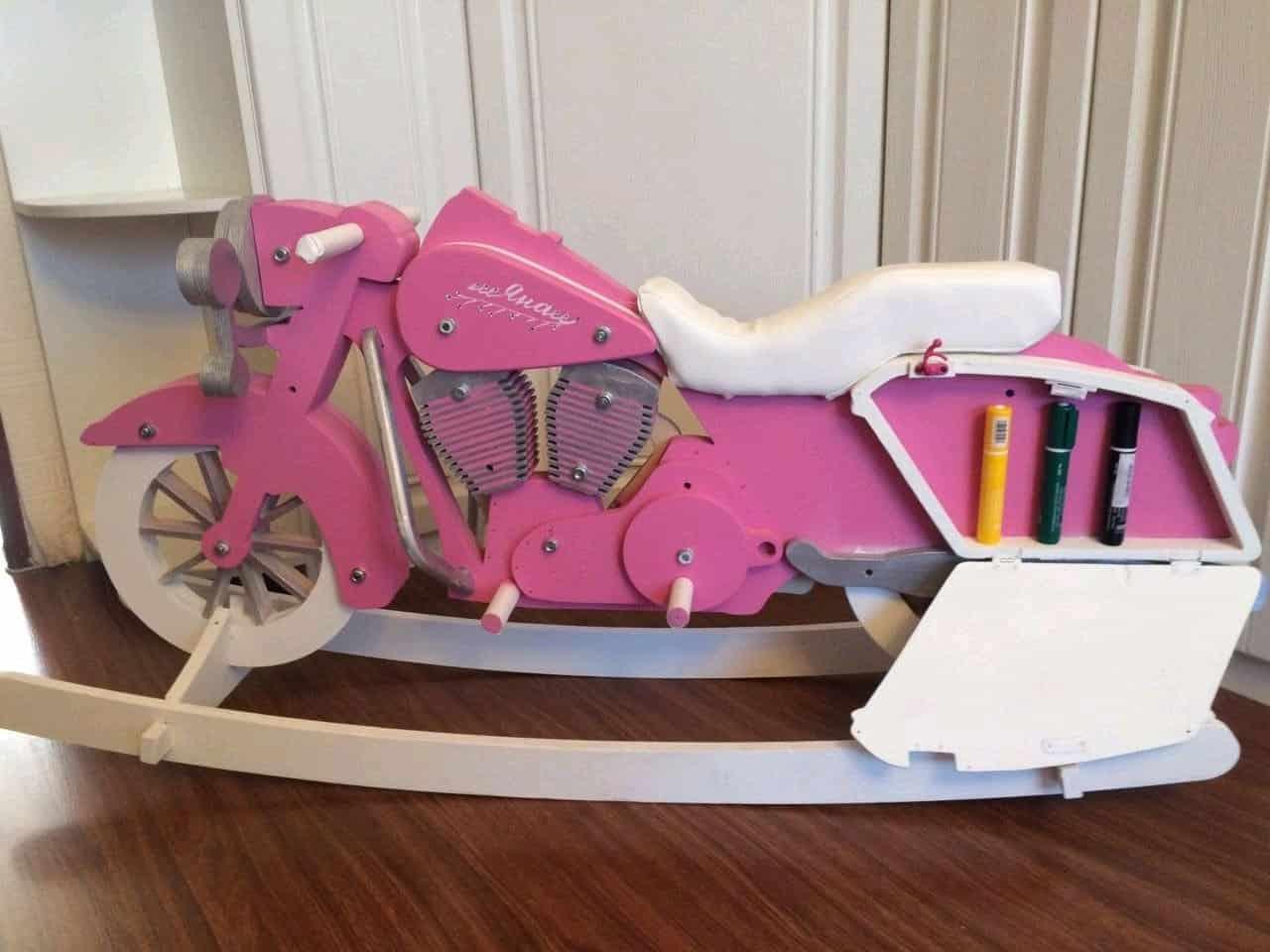 Pink Harley Rocking Horse