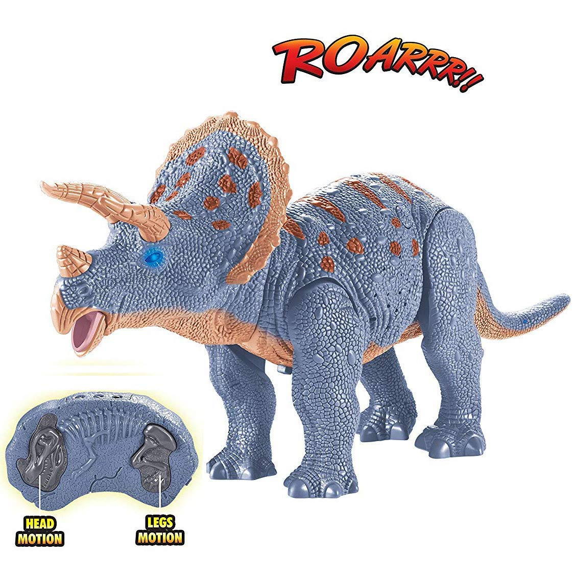 Remote Control Triceratops Walking Dinosaur Toy