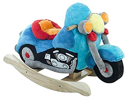 Rockabye Lil' Biker Motorcycle Rocker Kids Rocking Horse