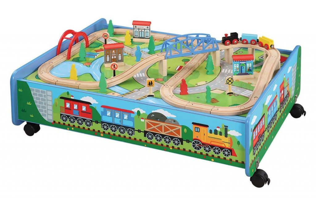 Under-the-bed Train Table Wooden Set Trundle - BRIO and Thomas & Friends Compatible