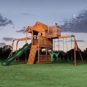Backyard Discovery Woodridge II Swing Set Jungle Gym for Kids and Toddlers