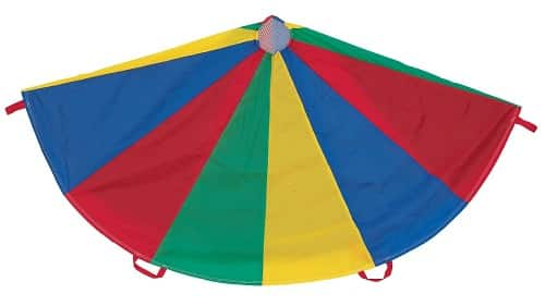 Champion Sports Multi-Colored Parachute - Garden Toy for Kids