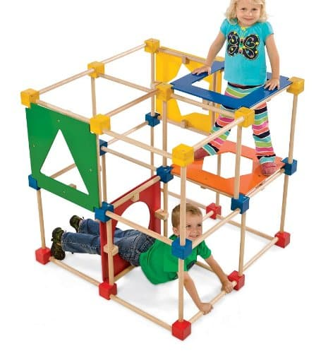 Square Climber Wooden Climbing Cube Jungle Gym