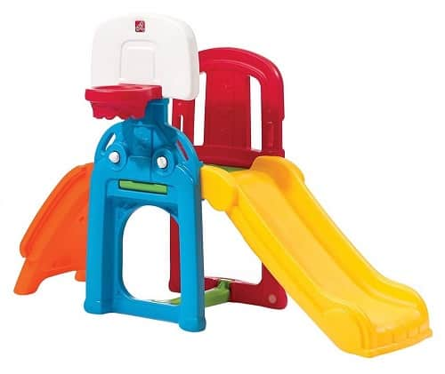 Step 2 Game Time Sports Climber and Slide - Outdoor Summer Toy for Toddlers and Kids
