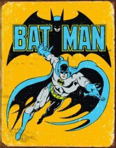 Retro Tin Batman decor sign for kids