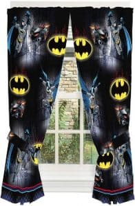 Warner Bros Batman Safe Again Window Drapes for children