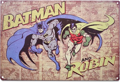 Batman & Robin Retro Metal Tin Sign Poster