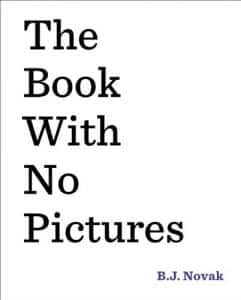 Book with no pictures for 3 year old boy