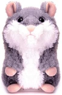 Electronic talking plush hamster toy