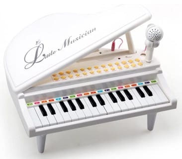 Toddlers white piano