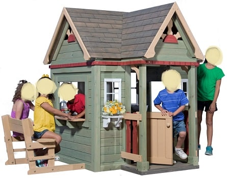 Victorian Inn wooden playhouse