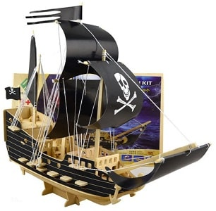 Wooden 3D pirate ship puzzle set