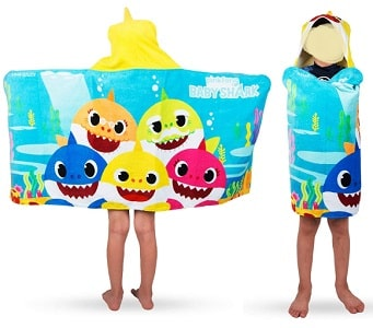 Kids Bath and Beach Soft Cotton Hooded Towel