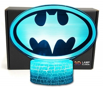 LED Superhero 3D 7 Color Night Light Table Lamp