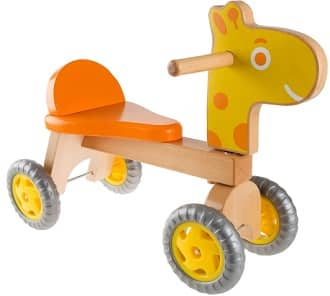 Happy Trails Giraffe Wooden Balance Bike