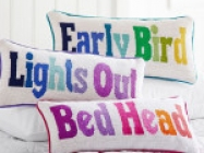 Sleep Sayings Needlepoint Pillows