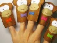 5 Little Monkeys Finger Puppets