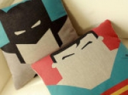 Batman & Superman Pillows