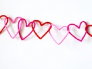 DIY Heart Chain Garland