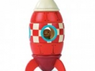 Magnetic Wooden Toy Rocket