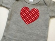 Heart Bodysuits For Baby