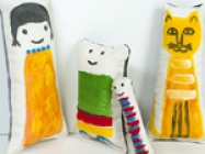 DIY Painted Fabric Dolls